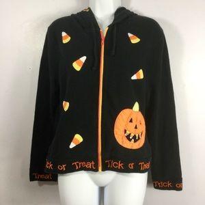 Vintage Belle Pointe Zip Up Halloween Hoodie